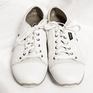 DR. SCHOLLS Jamie White Sneaker Canvas & Leather